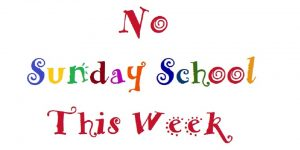 No Sunday School